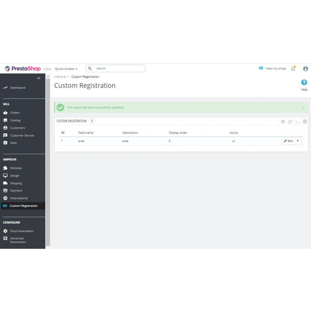 module - Inscription & Processus de commande - Customer Registration Field Adder - 2
