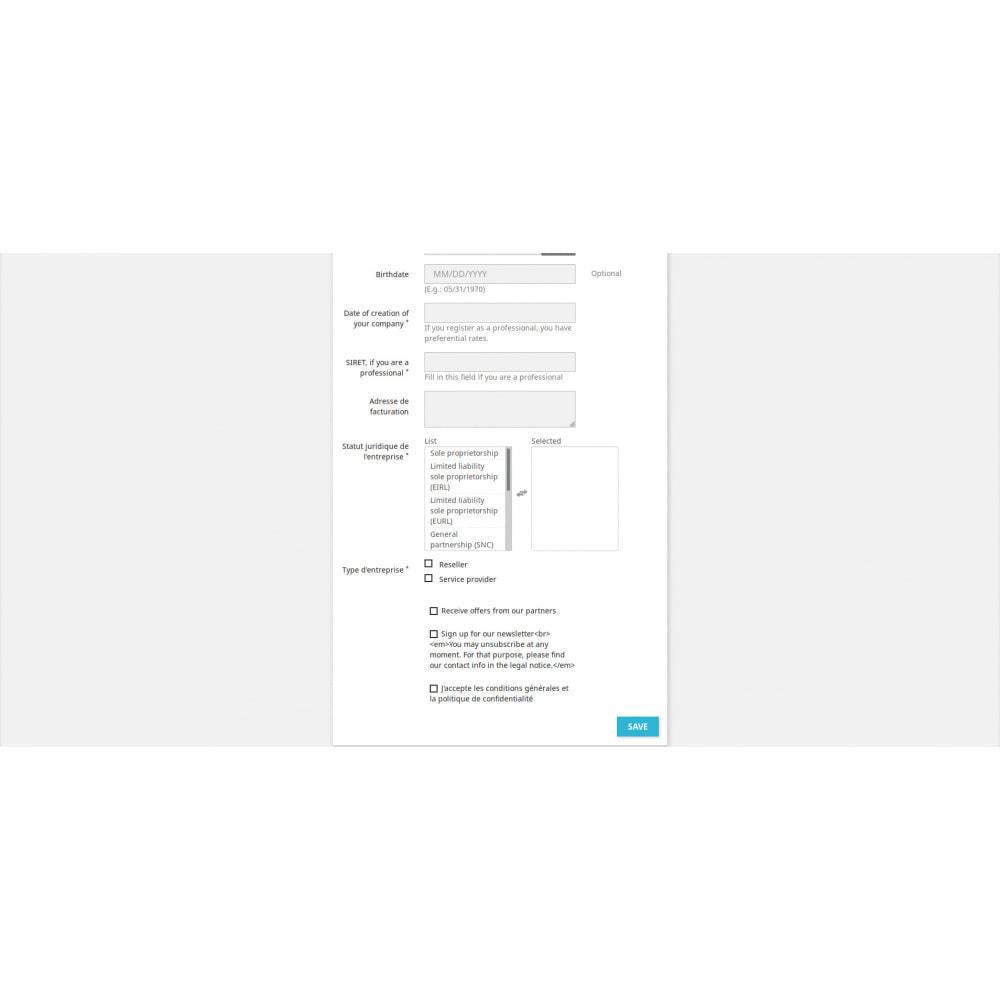 module - Inscription & Processus de commande - Customer Registration Field Adder - 4