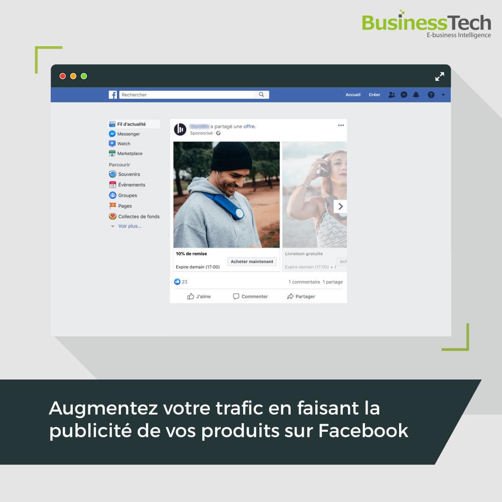 module - Remarketing & Paniers Abandonnés - Dynamic Ads + Pixel & Boutiques Facebook - 1
