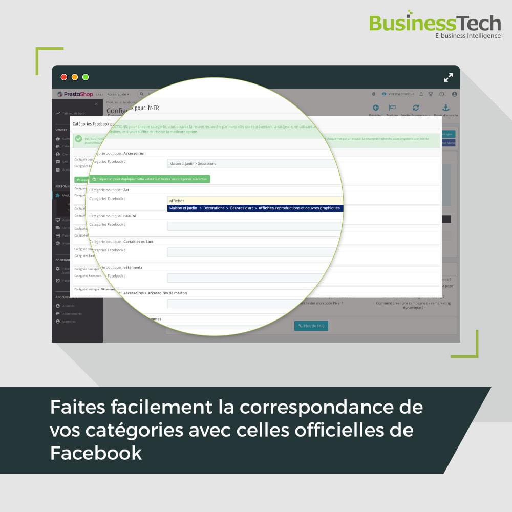 module - Remarketing & Paniers Abandonnés - Dynamic Ads + Pixel & Boutiques Facebook - 7