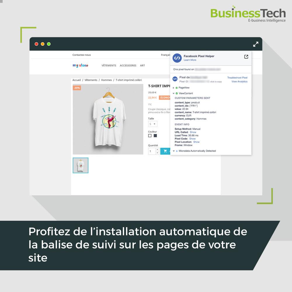 module - Remarketing & Paniers Abandonnés - Dynamic Ads + Pixel & Boutiques Facebook - 9