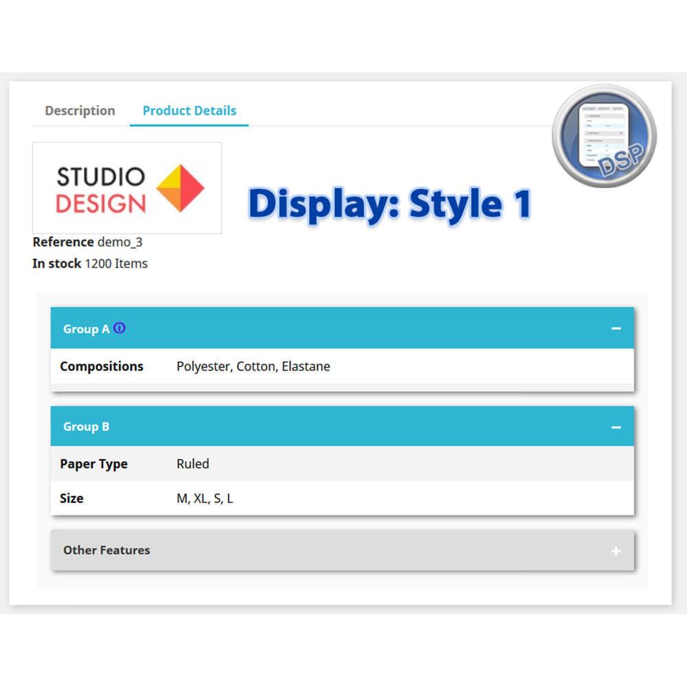 module - Bijkomende Informatie - DataSheet Pro - Product kenmerken - 4