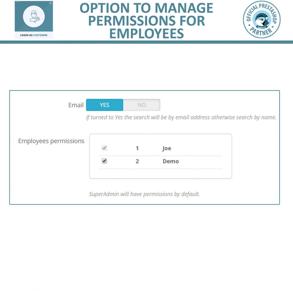 module - Customer Service - Login as Customer - 3