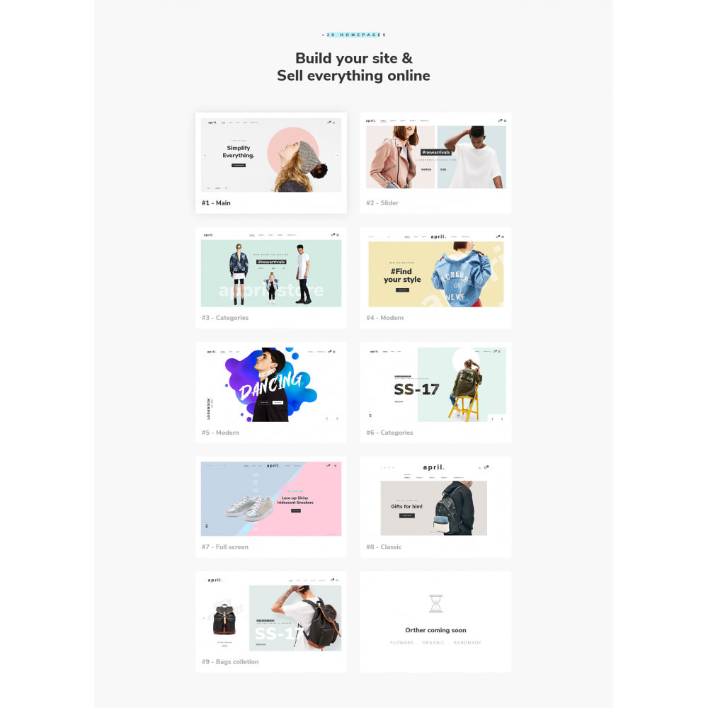 theme - Mode & Schuhe - April  Store eCommerce Bootstrap 4 - 2