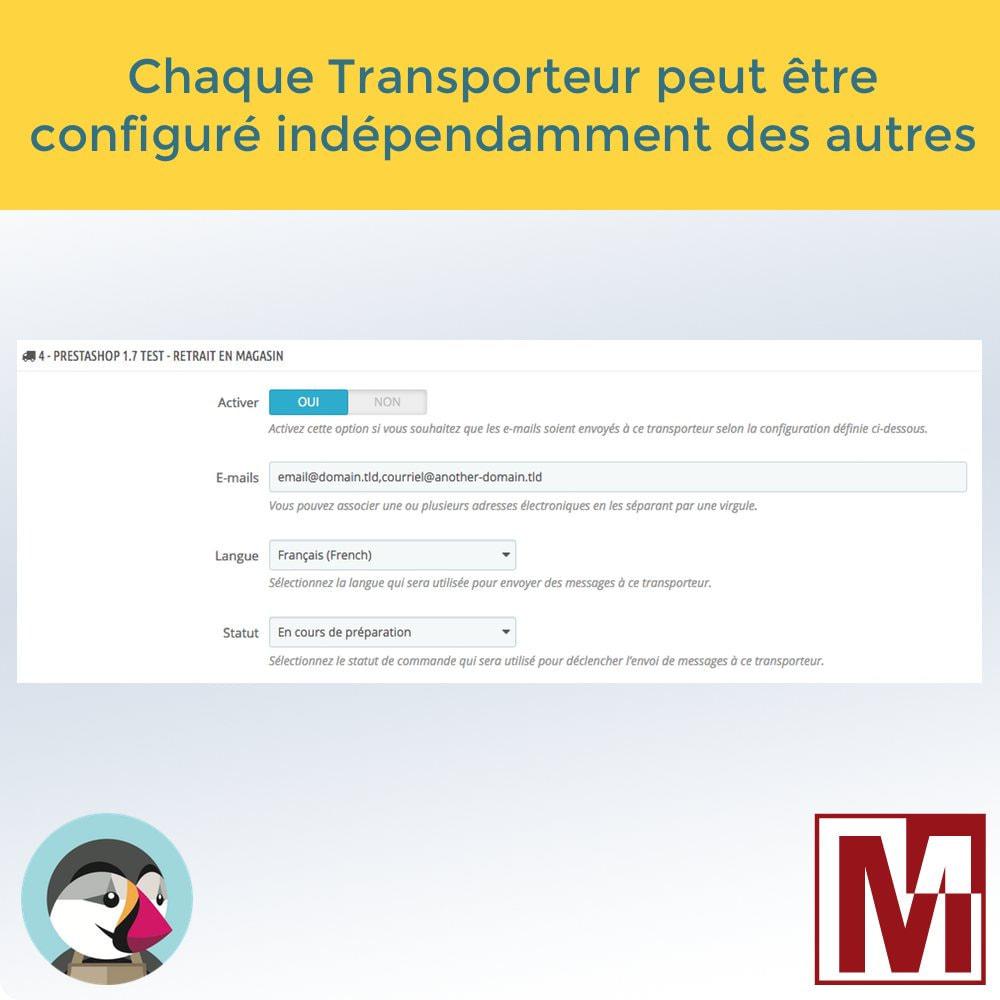 module - Préparation & Expédition - Envoyez vos commandes par email aux transporteurs - 2
