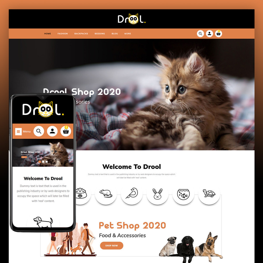 theme - Animais - Drool - Pet Store - 1