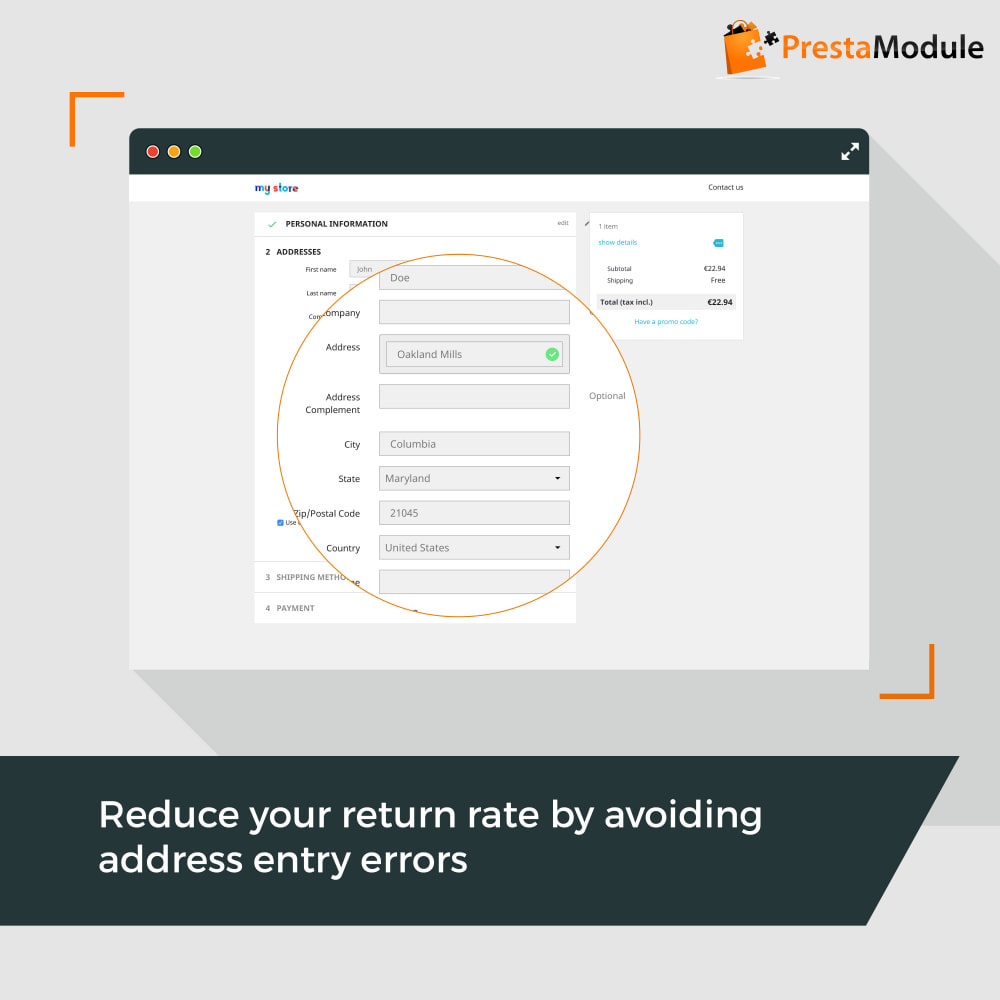 module - Registration & Ordering Process - Easy Places - 2
