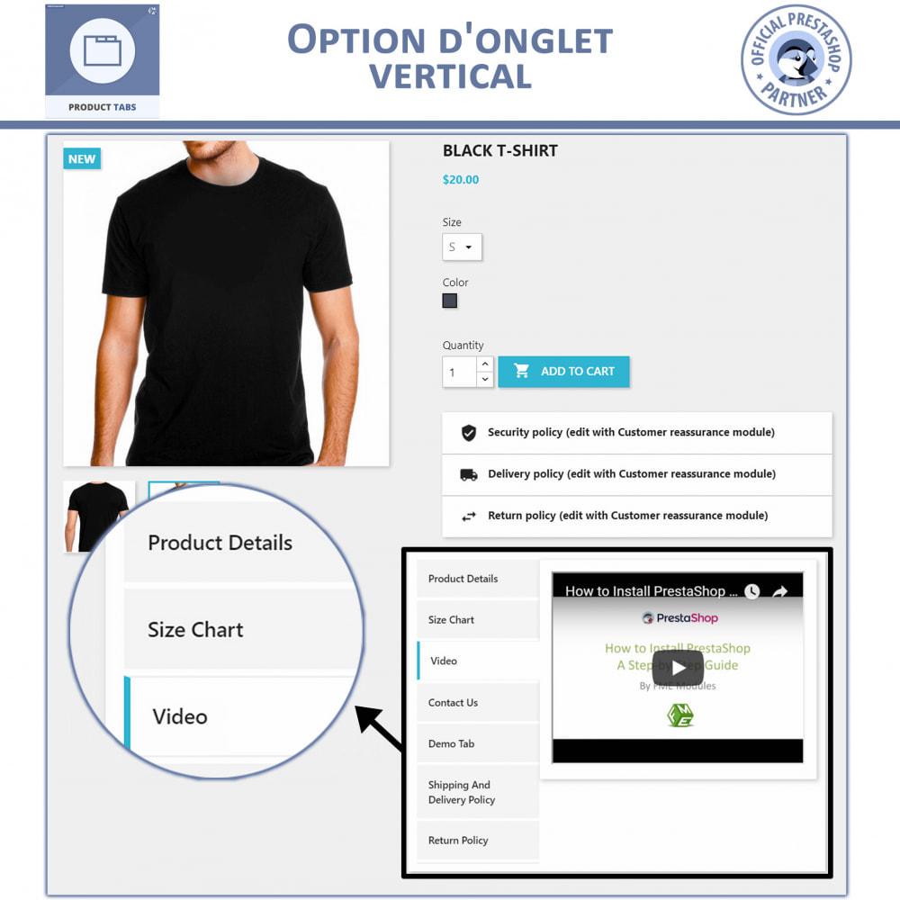module - Information supplémentaire & Onglet produit - Onglets de Produits - 2