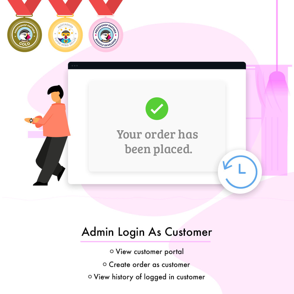 module - Customer Service - Admin Login as Customer | Access User Account - 2