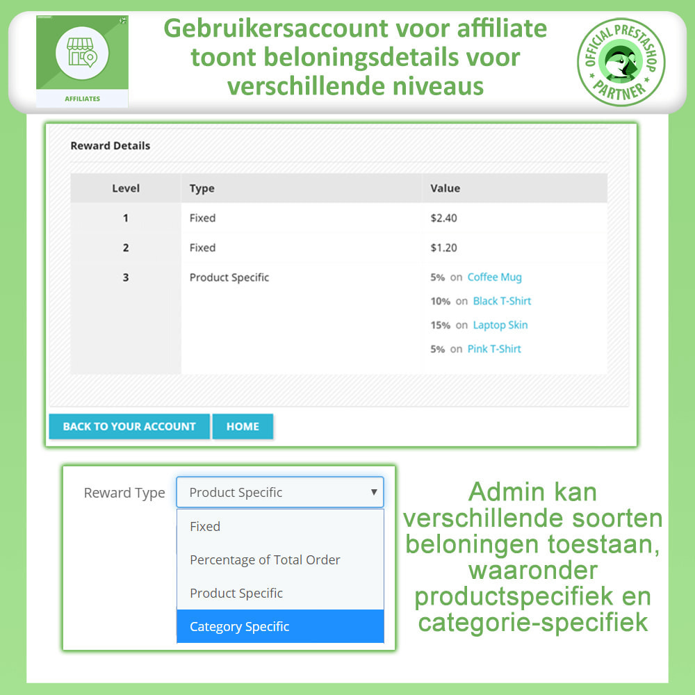 module - Betaalde vermelding & Lidmaatschap - Affiliates Pro, Affiliate & Referral Program - 2