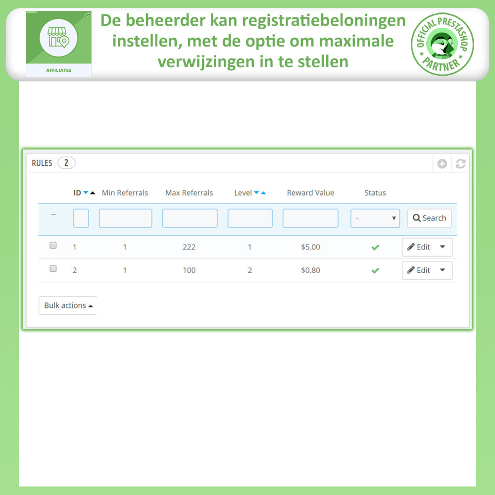 module - Betaalde vermelding & Lidmaatschap - Affiliates Pro, Affiliate & Referral Program - 19
