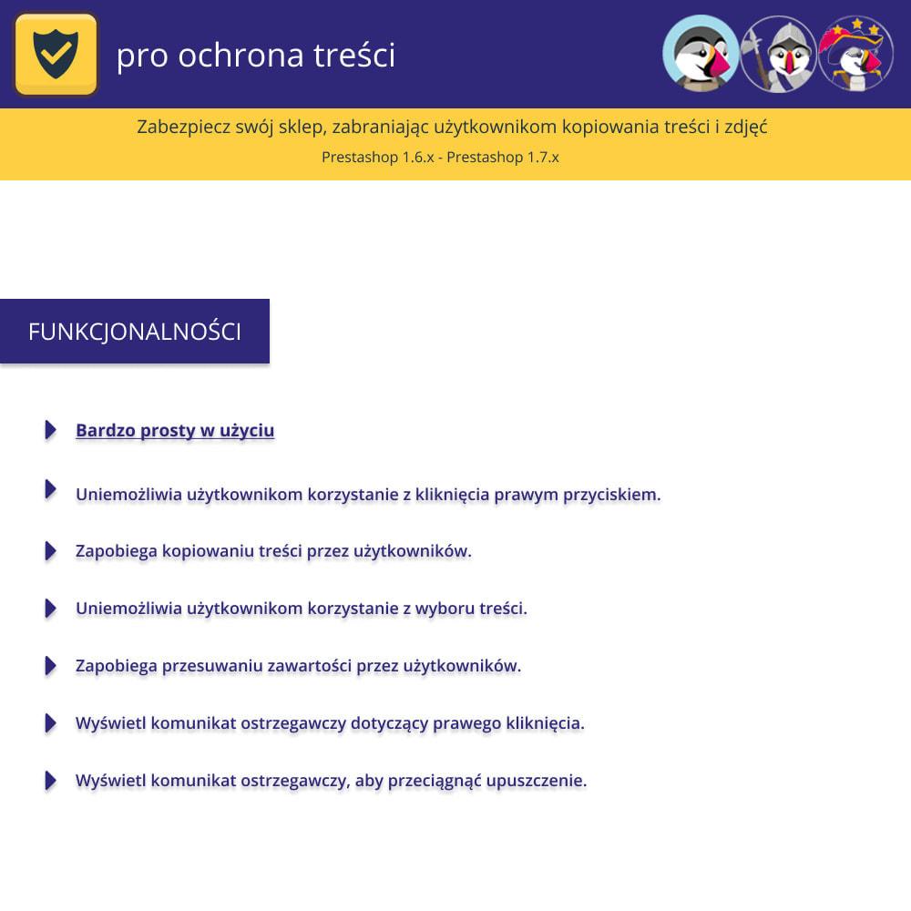 module - Bezpieczeństwa & Dostępu - Ochrona zawartości Pro-Chroń swoje treści - 1