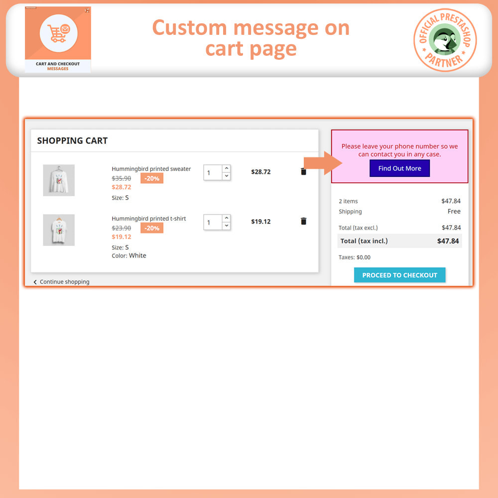 module - Registration & Ordering Process - Cart and Checkout Messages - 3