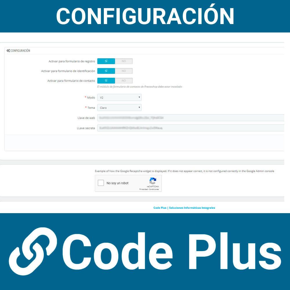 module - Seguridad y Accesos - Google Recaptcha para formularios - 2