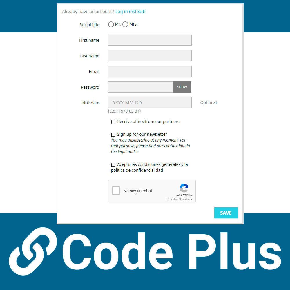 module - Sécurité & Accès - Google Recaptcha for forms - 4