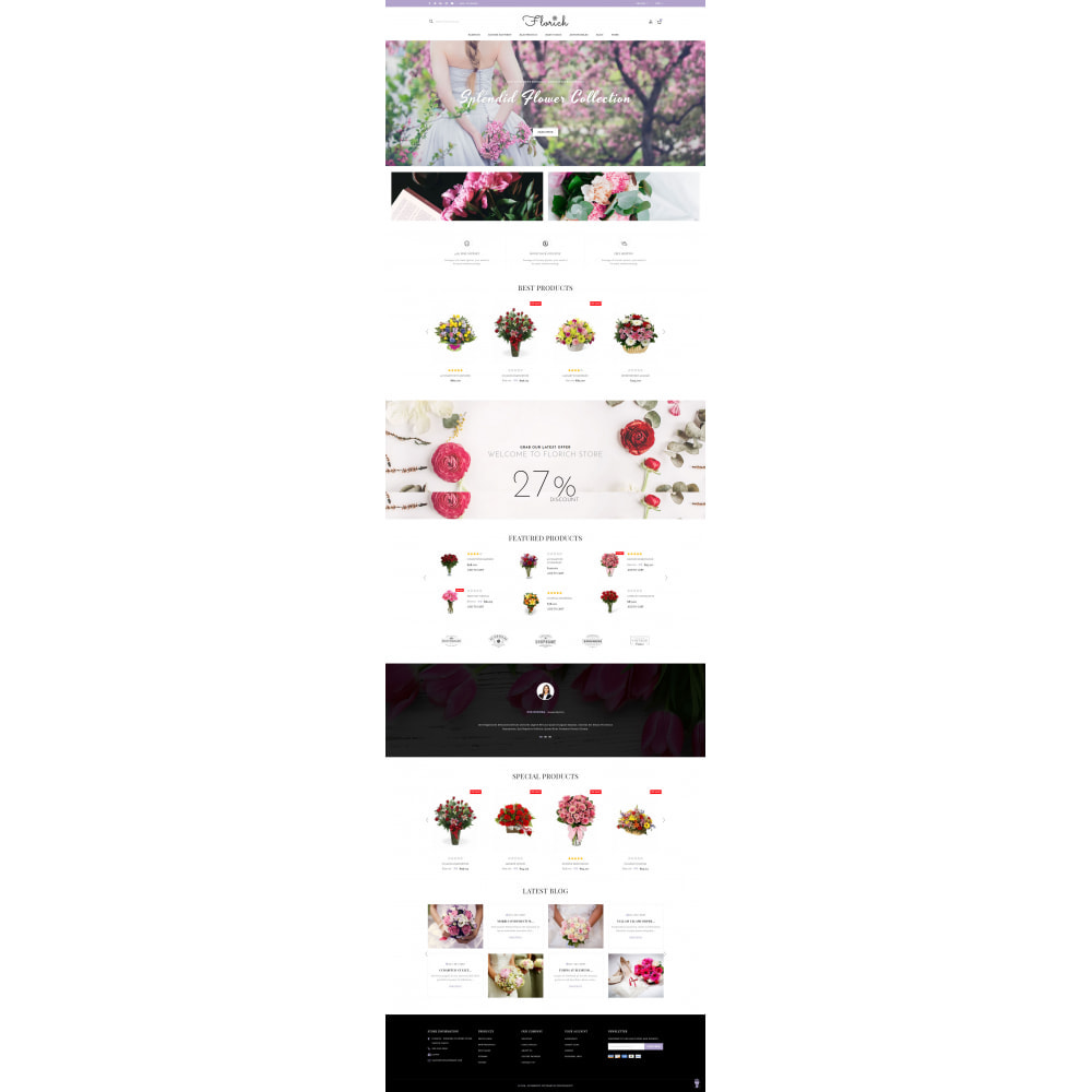 theme - Gifts, Flowers & Celebrations - Florich - Wedding Flowers Store - 2