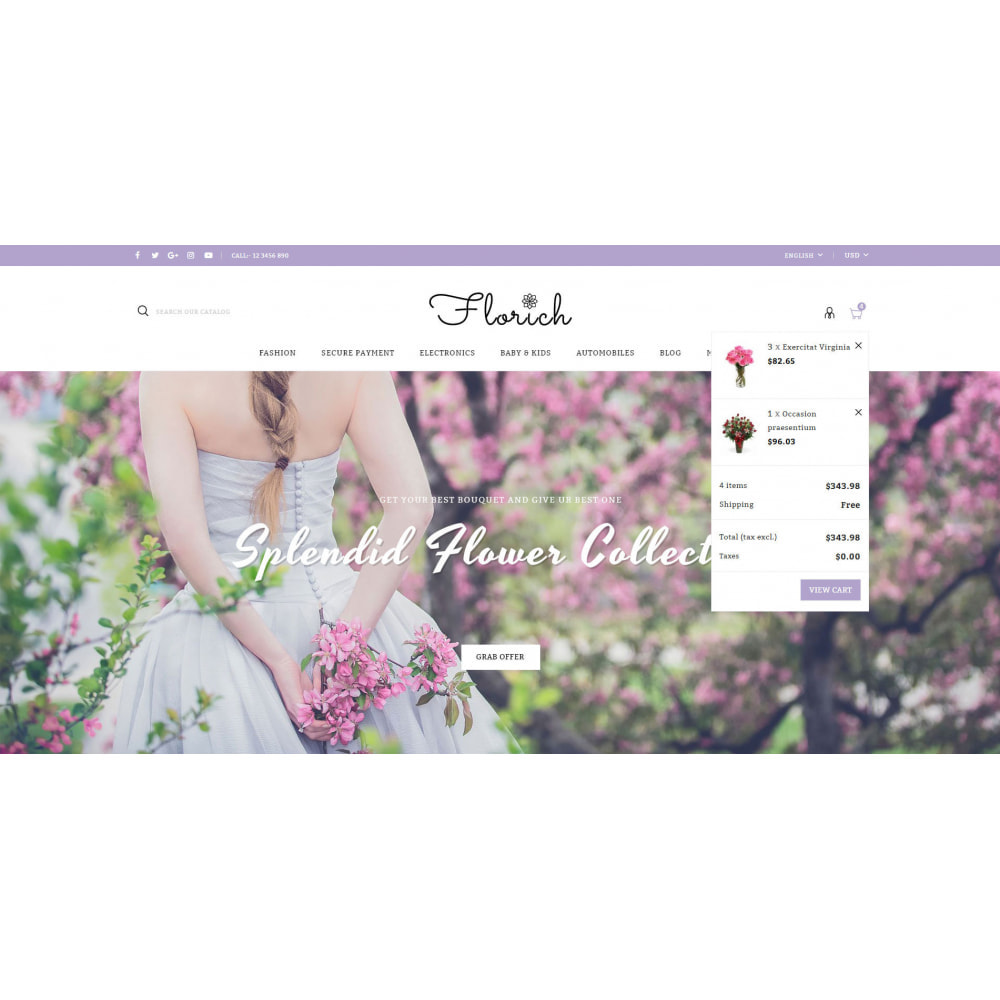 theme - Gifts, Flowers & Celebrations - Florich - Wedding Flowers Store - 8