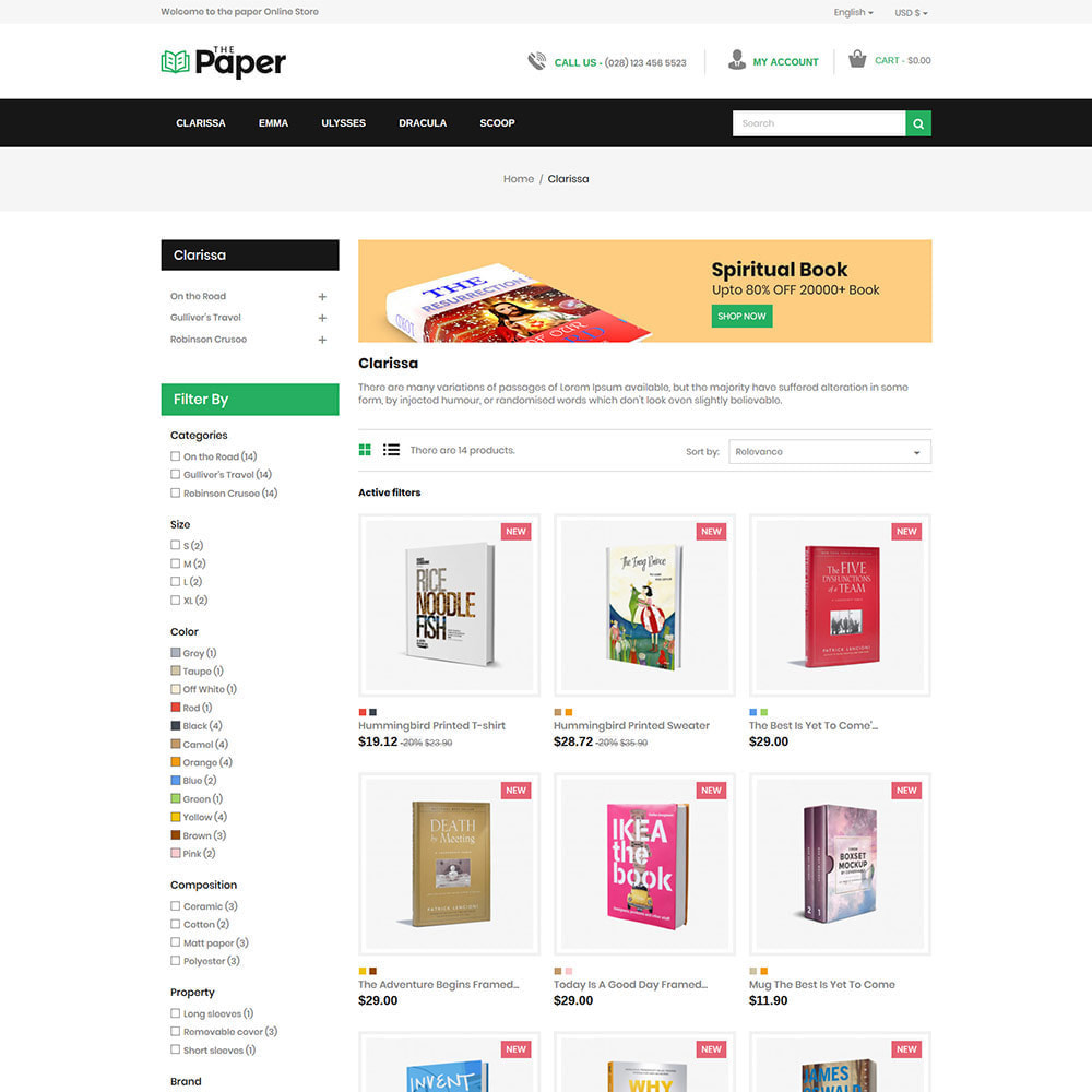 theme - Art & Culture - The Paper  - Book Store - 3