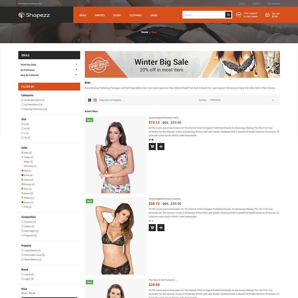 theme - Lingerie & Adultos - Shapezz Adult - Lingerie Bra Panties Store - 4