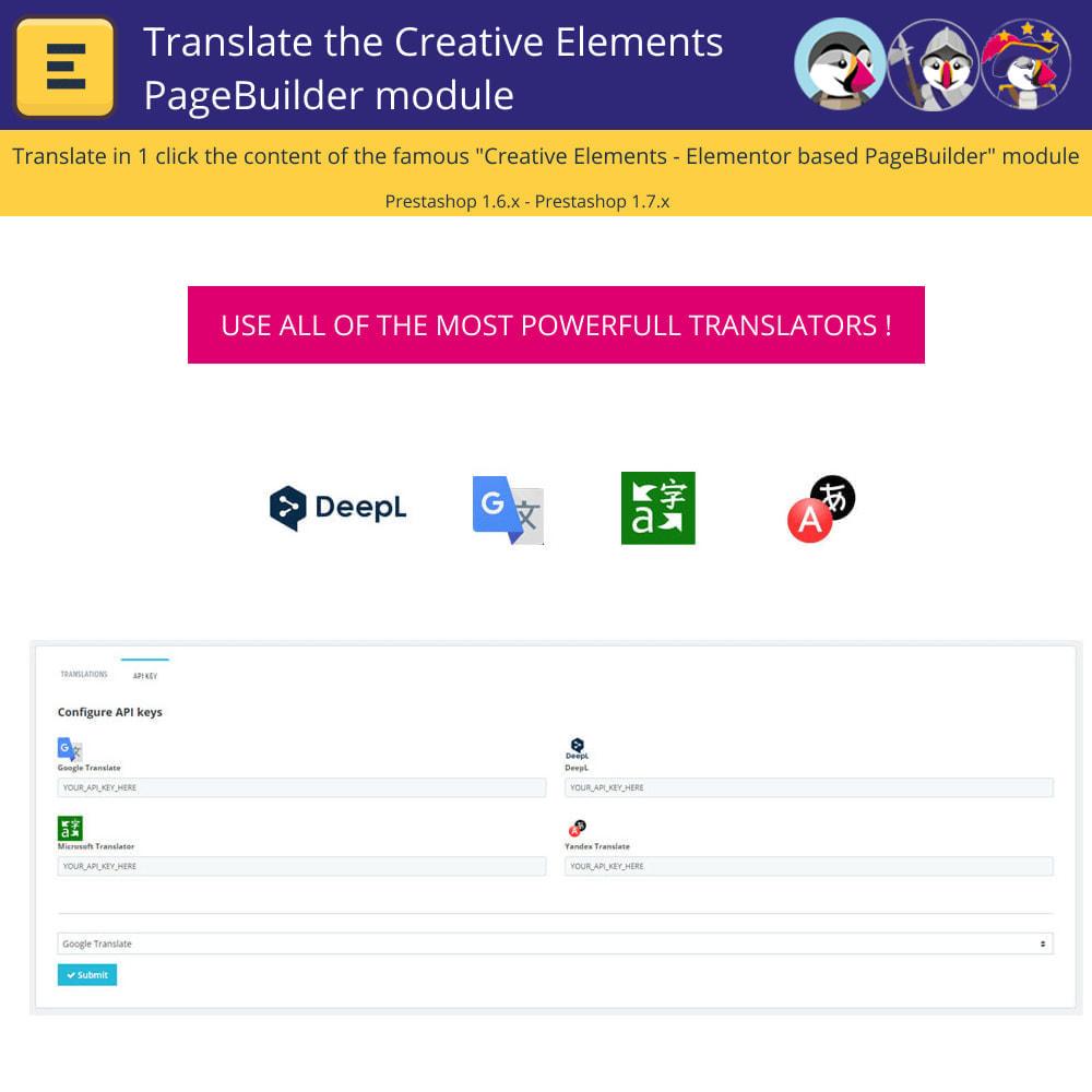 module - International & Localization - Translate The Creative Elements PageBuilder - 2