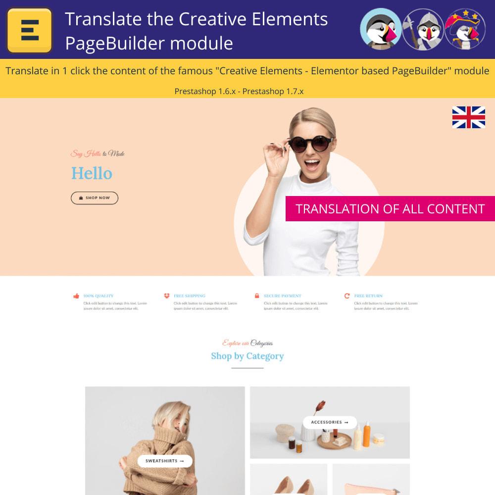 module - International & Localization - Translate The Creative Elements PageBuilder - 3
