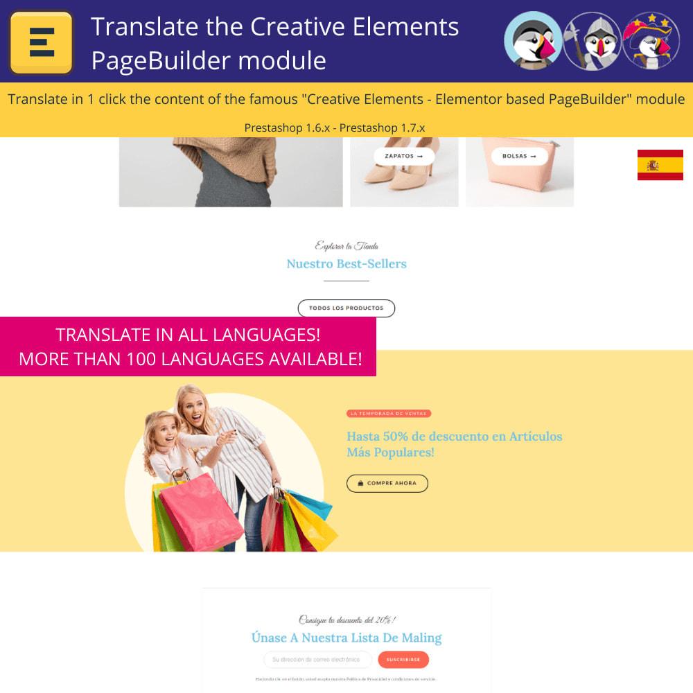 module - International & Localization - Translate The Creative Elements PageBuilder - 4