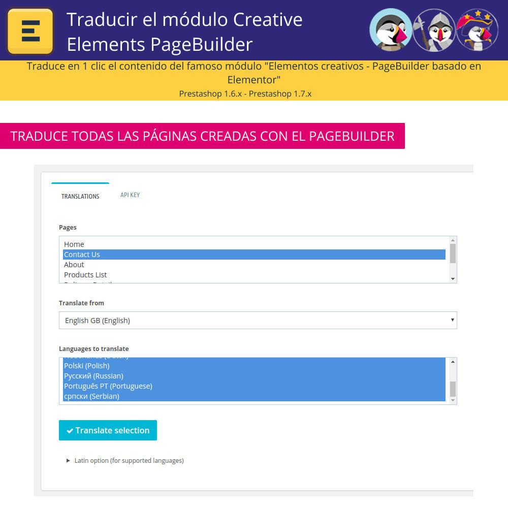 module - Internacionalización y Localización - Traducir el Creative Elements PageBuilder - 5