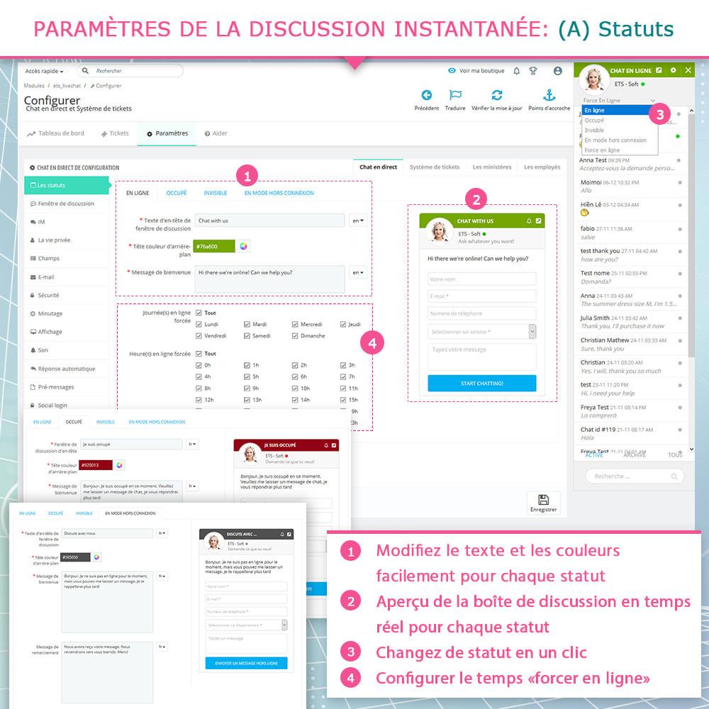 module - Support & Chat Online - Chat en direct et Système de tickets - 4
