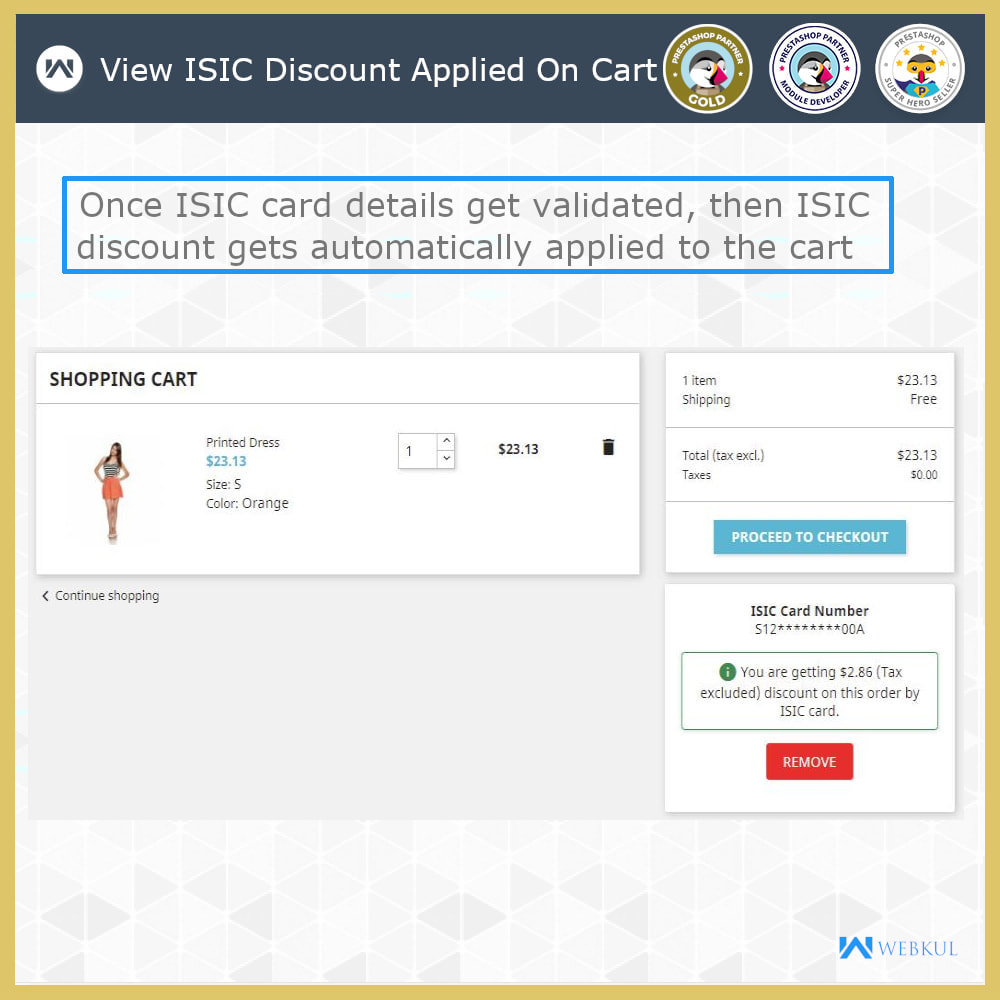 module - Promotions & Gifts - ISIC Student Discount   Discount for ISIC Cardholders - 5