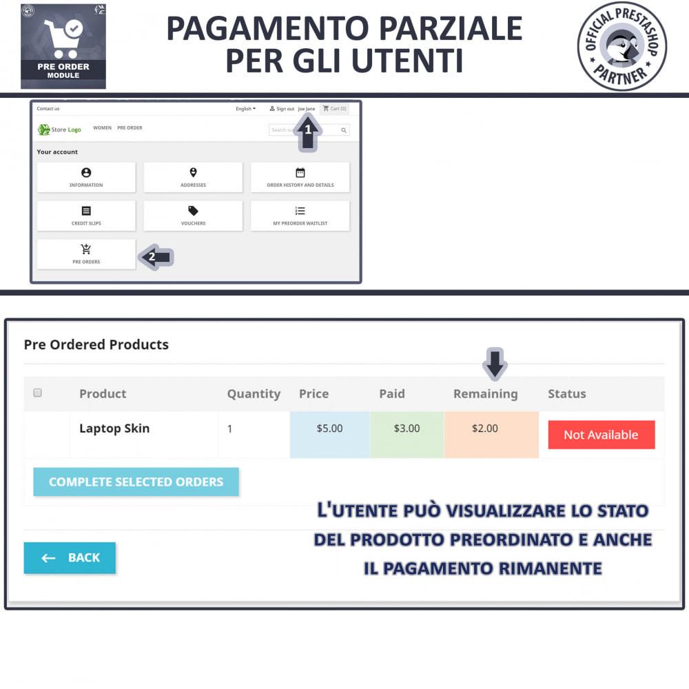 module - Iscrizione e Processo di ordinazione - Pre-ordine e lista d'attesa - 10