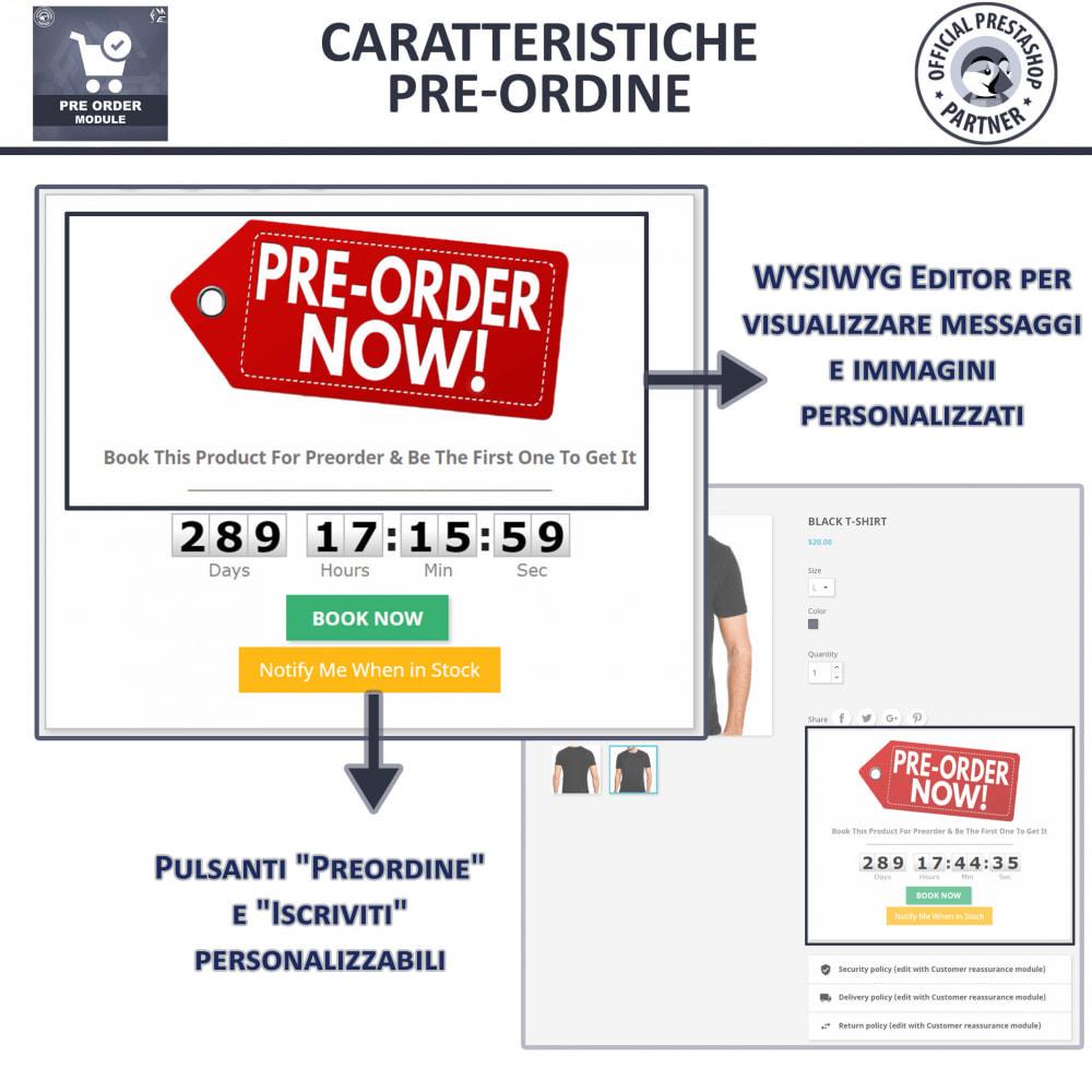 module - Iscrizione e Processo di ordinazione - Pre-Order - Advance Booking   Out of Stock Selling - 4