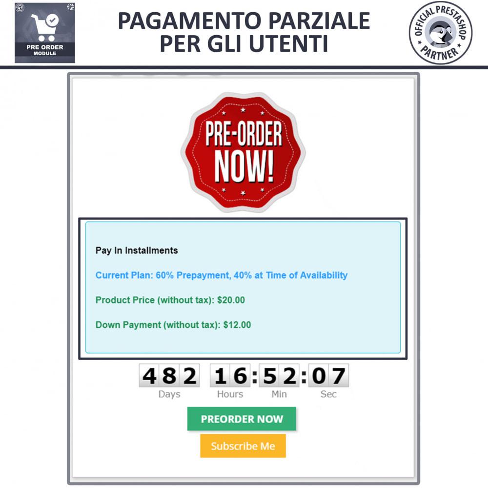 module - Iscrizione e Processo di ordinazione - Pre-Order - Advance Booking   Out of Stock Selling - 5