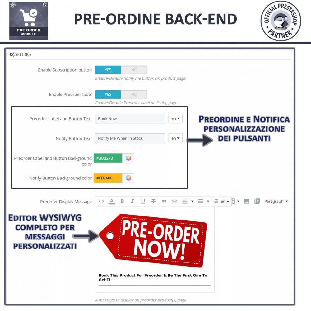 module - Iscrizione e Processo di ordinazione - Pre-ordine e lista d'attesa - 8