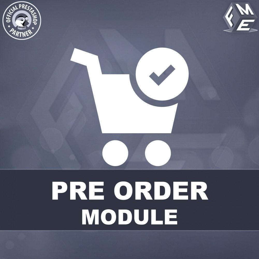 module - Inscription & Processus de commande - Pre-Order - Advance Booking   Out of Stock Selling - 1