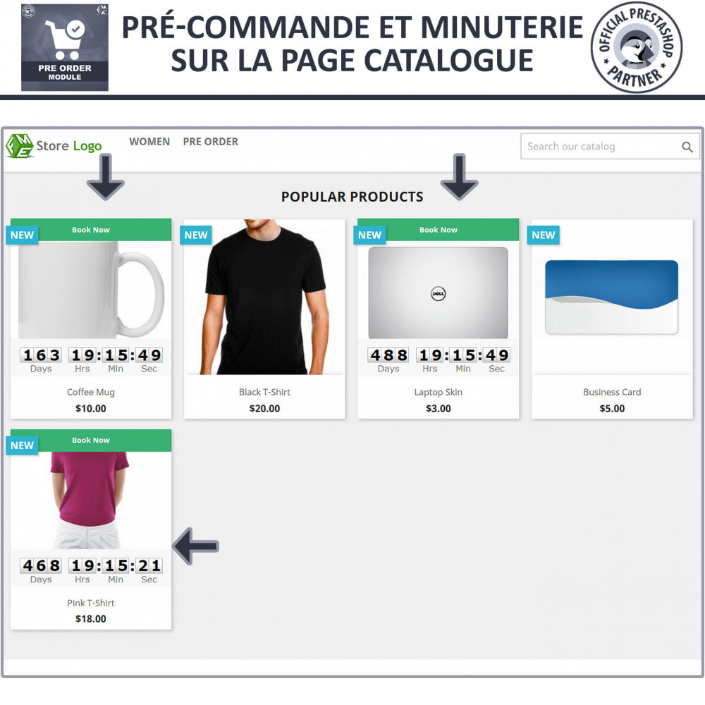 module - Inscription & Processus de commande - Pre Order & Waiting List Notification - 2