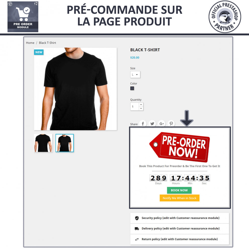 module - Inscription & Processus de commande - Pre Order & Waiting List Notification - 3