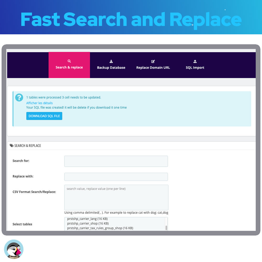 module - Fast & Mass Update - Fast Search and Replace - 5