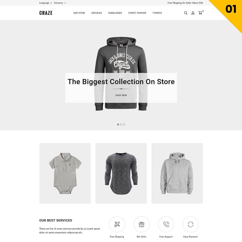theme - Moda y Calzado - Craze - La tienda en línea multipropósito - 4