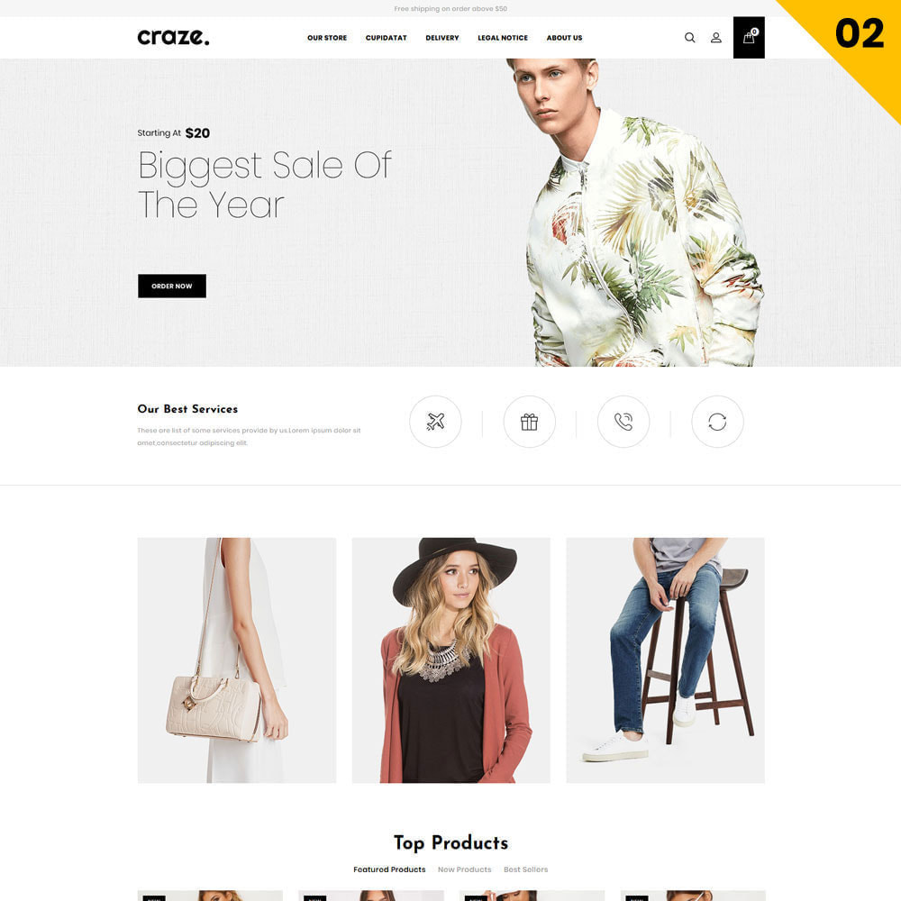 theme - Fashion & Shoes - Craze - The Multipurpose Online Store - 4