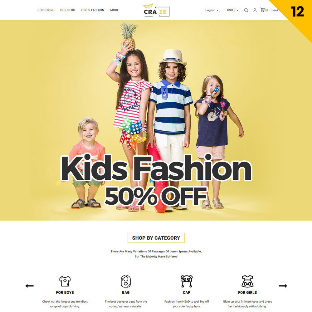 theme - Fashion & Shoes - Craze - The Multipurpose Online Store - 14