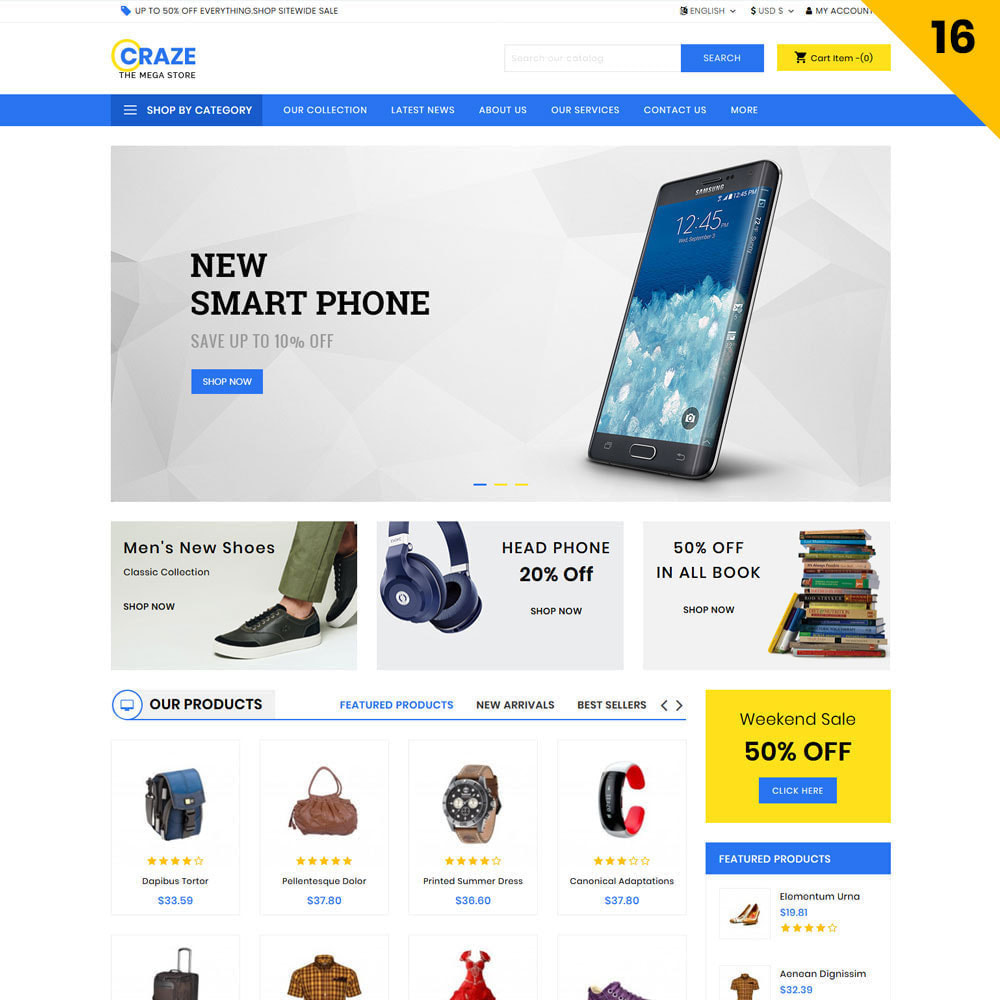 theme - Moda & Calzature - Craze - Il negozio online multiuso - 19