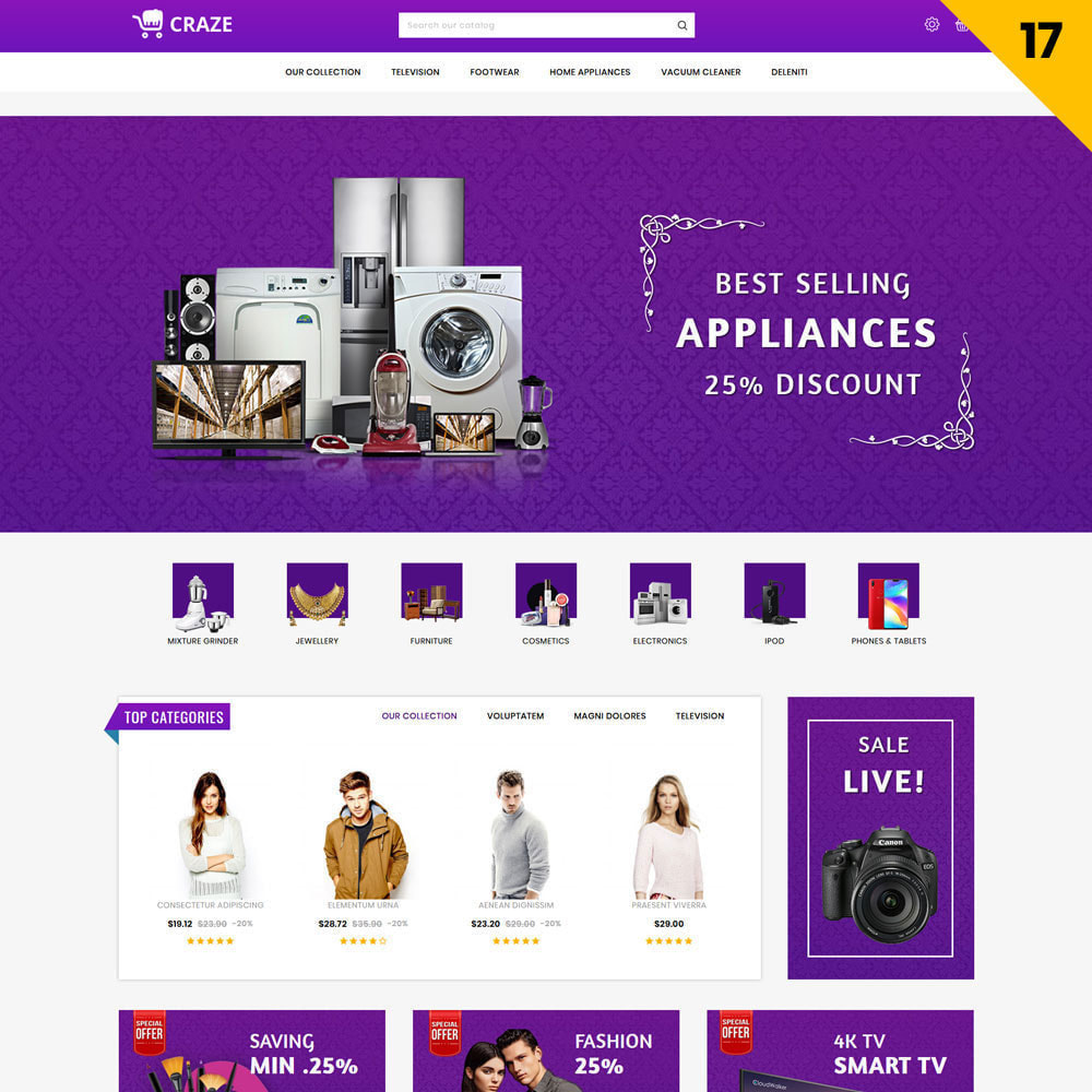 theme - Moda & Calzature - Craze - Il negozio online multiuso - 20