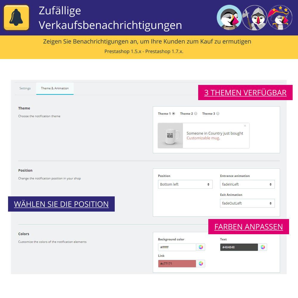 module - E-Mails & Benachrichtigungen - Zufällige Verkaufsbenachrichtigungen - 3