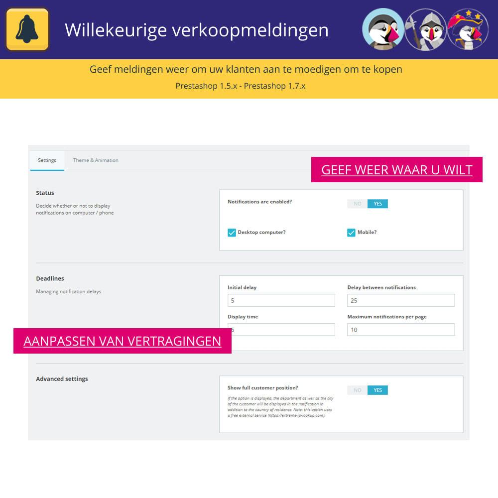 module - Emails & Notificaties - Willekeurige verkoopmeldingen - 4