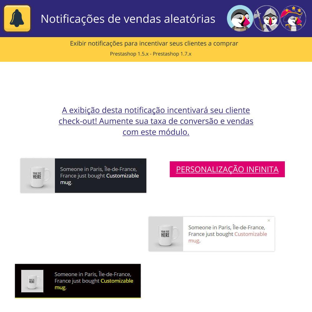 module - E-mails & Notícias - Notificações de vendas aleatórias - 2