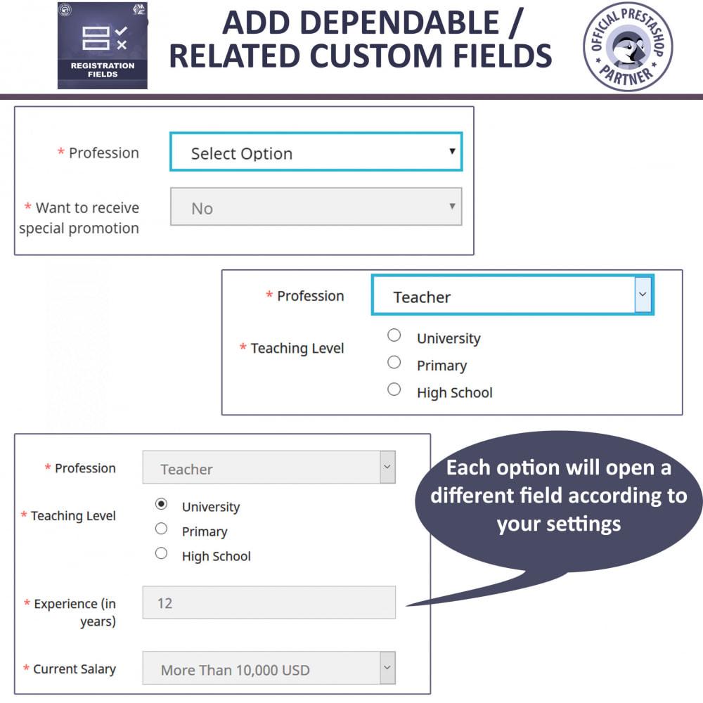 module - Cadastro e Processo de Pedido - Custom Registration Fields - Registration Validation - 3