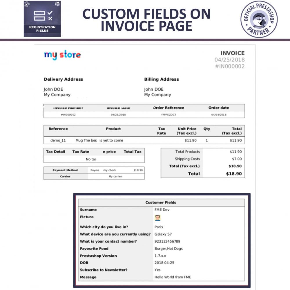 module - Cadastro e Processo de Pedido - Custom Registration Fields - Registration Validation - 6
