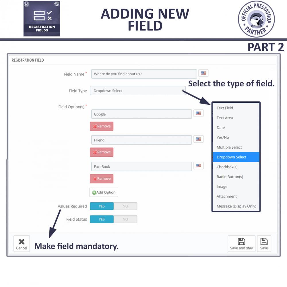module - Cadastro e Processo de Pedido - Custom Registration Fields - Registration Validation - 12