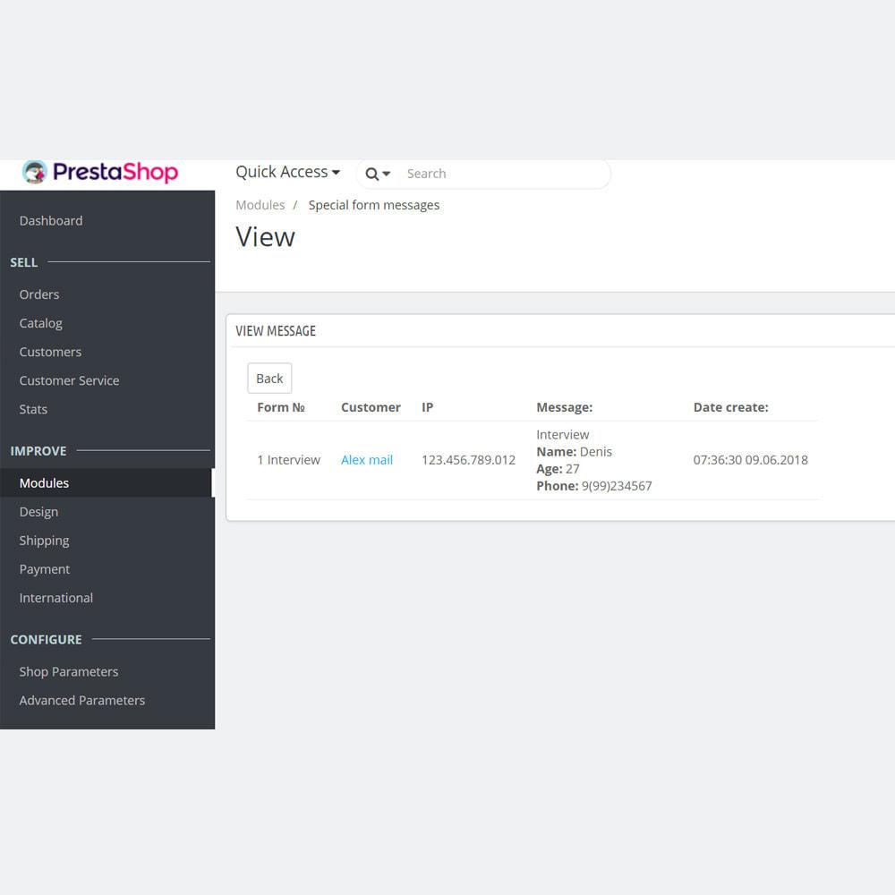 module - Formularz kontaktowy & Ankiety - Niestandardowy formularz / pole na stronie cms - 15