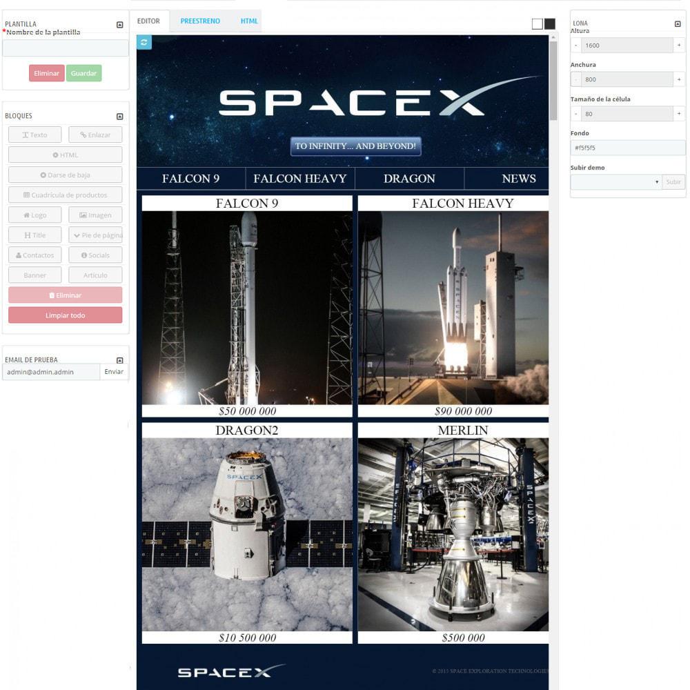 module - Newsletter y SMS - Custom Mailer SeoSA - De boletín de noticias - 7
